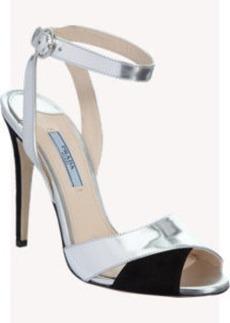 Prada Bicolor Ankle Strap Sandal