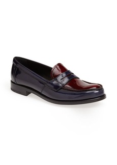 Prada Bicolor Leather Penny Loafer (Women)