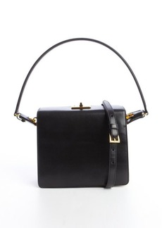 Prada black and yellow leather convertible structured bag