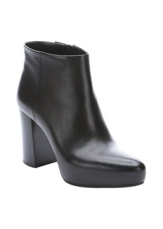 Prada black leather concealed platform side-zip ankle booties