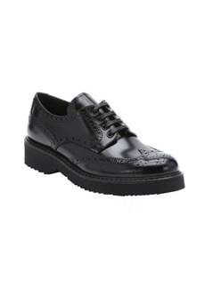 Prada black leather platform oxford creepers