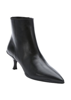 Prada black leather pompadour heel ankle booties