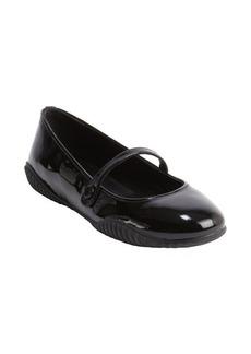 Prada black patent leather mary-jane flats