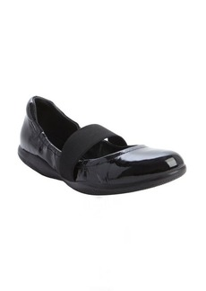 Prada black patent leather strap detail ballet flats