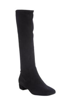 Prada black suede side zip boots
