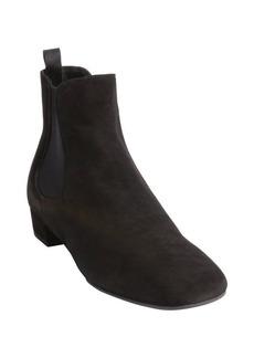 Prada black suede square toe ankle boots