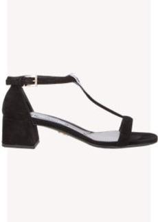 Prada Block-Heel T-strap Sandals