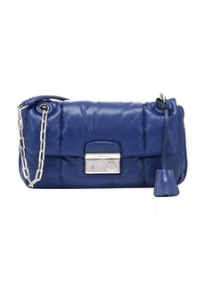 Prada blue quilted lambskin chain link shoulder bag