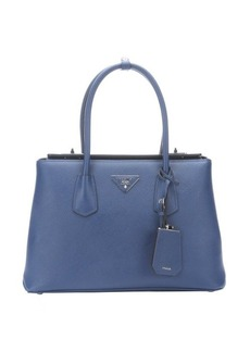 Prada blue saffiano leather top handle handbag
