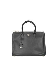 Prada BN1786 Black Nero Saffiano Lux Double Zip Bag