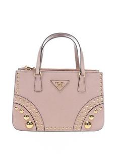 Prada cameo leather embellished mini top handle bag