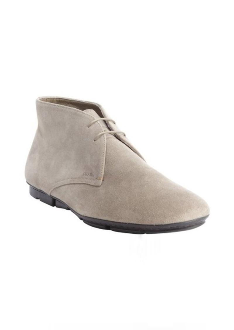 prada prada clay suede chukka ankle boots shoes shop