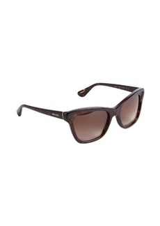Prada dark brown acrylic wayfarer sunglasses