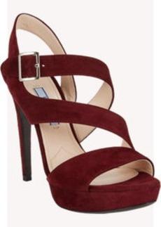 Prada Double Asymmetric-Strap Platform Sandals