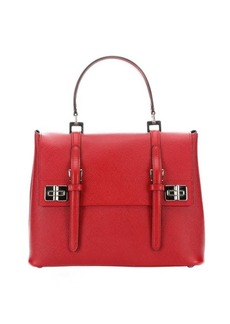Prada fire saffiano leather top handle bag