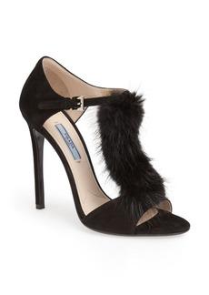 Prada Fur Trimmed Sandal (Women)