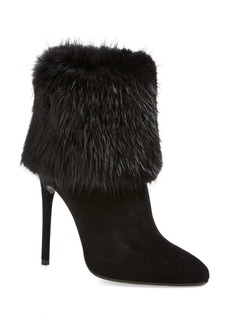 Prada Genuine Fur Trim Bootie (Women)