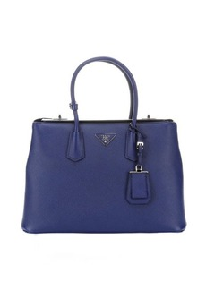 Prada ink saffiano leather large top handle tote