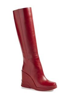 Prada Knee High Wedge Boot (Women)