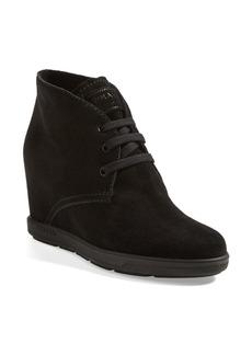 Prada Lace Wedge Short Boot