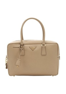 Prada light beige saffiano leather structured tote