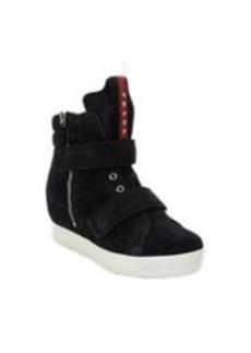 Prada Linea Rossa Double-strap Hidden Wedge Sneakers