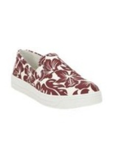 Prada Linea Rossa Hibiscus Slip-On Sneakers