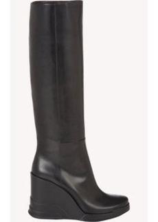Prada Platform Wedge Knee Boots