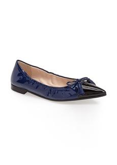 Prada Pointy Toe Ballerina Flat (Women)
