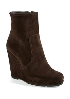 Prada Short Wedge Suede Boot (Women)