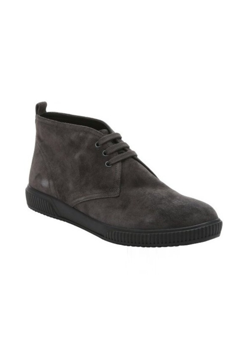 prada prada sport asphalt suede lace up chukka boots