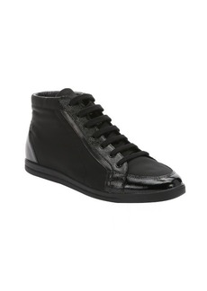Prada Sport black leather and nylon 'Kayak' mid-rise sneakers
