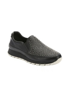 Prada Sport black leather beaded slip-on sneakers