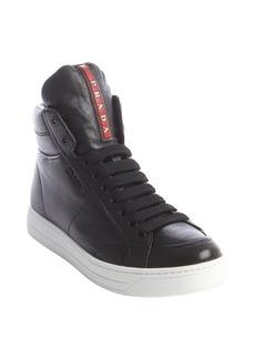 Prada Sport black leather high tops