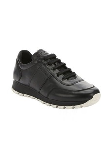 Prada Sport black leather lace-up sneakers