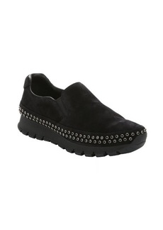 Prada Sport black suede beaded slip-on sneakers