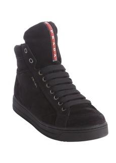 Prada Sport black suede high tops