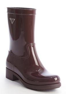 Prada Sport bordeaux rubber rain boots