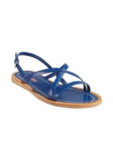 Prada Sport cobalt leather crisscross strap sandals