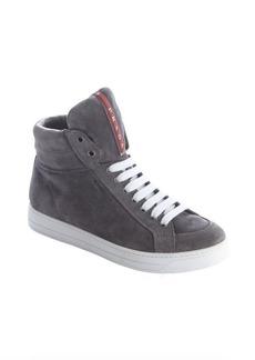 Prada Sport grey suede high tops