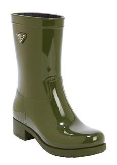 Prada Sport olive rubber rain boots