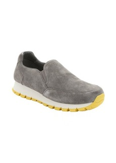 Prada Sport stone and sunflower suede slip-on sneakers