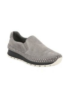 Prada Sport stone suede beaded slip-on sneakers