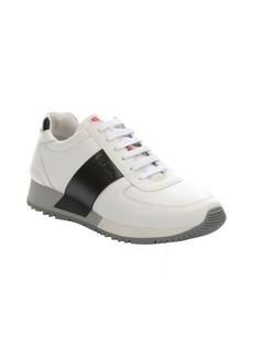 Prada Sport white and black tonal leather sneakers
