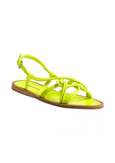 Prada Sport yellow leather knotted double strapped sandals