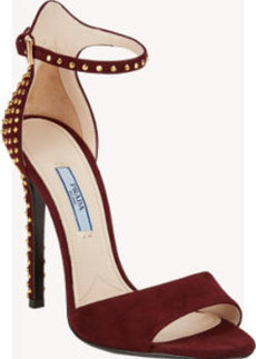 Prada Studded Ankle-Strap Sandals