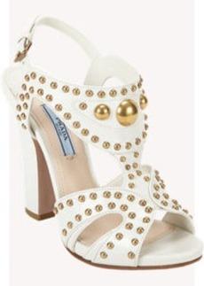 Prada Studded Cutout Sandals