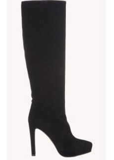 Prada Suede Platform Knee Boots