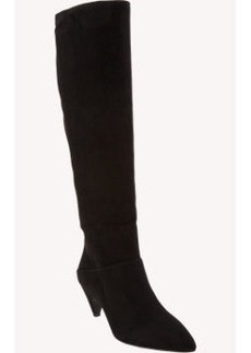 Prada Suede Point-Toe Knee Boots