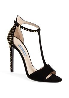 Prada T-Strap Studded Sandal